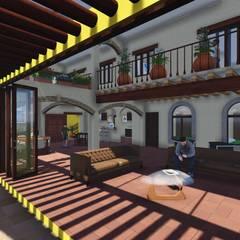 Estancia : Salas de estilo colonial por DAECO