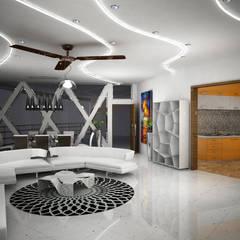 Laurel Interiors Modern living room by Gurooji Designs Modern