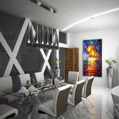 Laurel Interiors Modern dining room by Gurooji Designs Modern