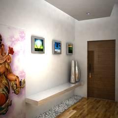 Laurel Interiors Modern corridor, hallway & stairs by Gurooji Designs Modern