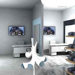 Merc. Merchandise Showroom:  Car Dealerships by Gurooji Design