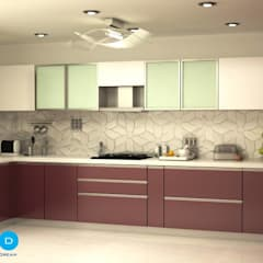 """""""Life should be chic, glamorous and colorful - and so should your home."""" :  Kitchen by FYD Interiors Pvt. Ltd"""