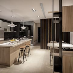 Cocinas de estilo  por Heng Yueh 恆岳設計,