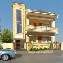 Villa in Vaishali nagar,Jaipur :  Houses by Aditya shrivastava