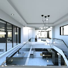 경기도 양평 K주택: 디자인 이업의  거실