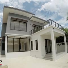 ASAP P14 บ้านชั้นเดี่ยว 2 ชั้น 4 ห้องนอน 3 ห้องน้ำ:  บ้านและที่อยู่อาศัย โดย Asap Home Builder,