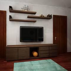 Diseño de interiores - Recamara trillizos: Recámaras infantiles de estilo  por Zono Interieur