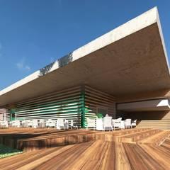 área do restaurante: Hotéis  por SAULO BARROS arquitetos