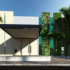 entrada beach club: Hotéis  por SAULO BARROS arquitetos
