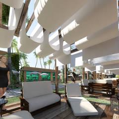 bangalos: Hotéis  por SAULO BARROS arquitetos