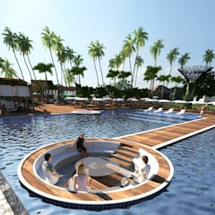 camarote na piscina: Hotéis  por SAULO BARROS arquitetos
