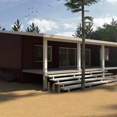 現代房屋設計點子、靈感 & 圖片 根據 JOM HOUSES 現代風 磚塊