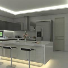 Cocina moderna: Cocinas de estilo moderno por Arquitecto Pablo Restrepo