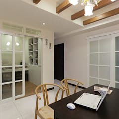 Oficinas de estilo  por 弘悅國際室內裝修有限公司,