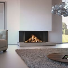 Recuperadores de Calor a Gás: Salas de estar  por Biojaq - Comércio e Distribuição de Recuperadores de Calor Lda,Moderno