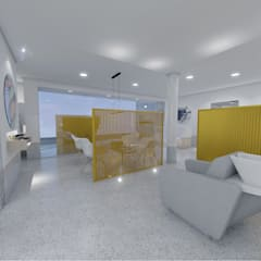 Salão de Beleza Bom Retiro.: Espaços comerciais  por OMA Arquitetura