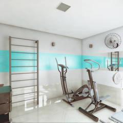 Casa Luz BH: Fitness  por OMA Arquitetura,Minimalista