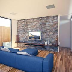Media room by OMA Arquitetura