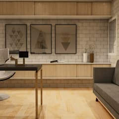 Casa IH: Estudios y oficinas de estilo  por BAUGËN STUDIO,