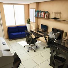 Oficinas BAUGËN STUDIO: Oficinas y tiendas de estilo  por BAUGËN STUDIO, Ecléctico Concreto