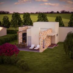 Diseño de parquización Complejo Turistico ,Cabañas -Resort alto nivel,zona de viñedos,San Rafael,Mendoza: Jardines de estilo  por LT Paisaje Diseño Sustentable