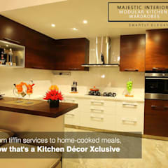 INTERIOR DESIGNERS IN FARIDABAD Kitchen By MAJESTIC INTERIORS