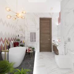 Коттедж в Михновке: Ванные комнаты в . Автор – 3D GROUP