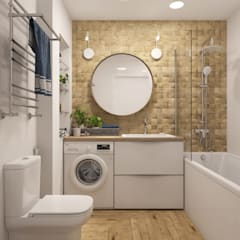 scandinavian Bathroom by 3D GROUP