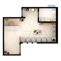 Phòng khám by Gabriela A Arévalo - Arquitetura Urbanismo e Interiores
