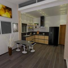 : Cocinas de estilo  por José D'Alessandro, Moderno Aglomerado