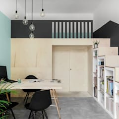 Projekt pracowni projektowej: styl , w kategorii Przestrzenie biurowe i magazynowe zaprojektowany przez DESIGN MY DEER