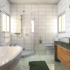 Sueño : Baños de estilo  por Construcciones y diseños Brihjha
