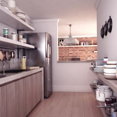 Apartamento: Cozinhas  por Breion Arquitetura
