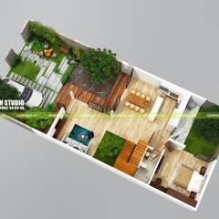 Biệt thự hiện đại 10 x 20m:  Nhà by UK DESIGN STUDIO - KIẾN TRÚC UK, Hiện đại