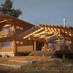 ДЕРЕВЯННЫЙ ДОМ CHALET-280: Деревянные дома в . Автор – project-ks,