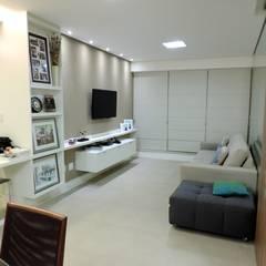 Apartamento LP: Salas de estar modernas por Escritório 238 Arquitetura