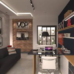 Escritório Incorporadora: Espaços comerciais  por E+D Arquitetura,Escandinavo Tijolo