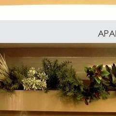 Apartamento SM - área social: Jardins minimalistas por E+D Arquitetura