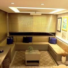 Apartamento SM - área social: Jardins de inverno minimalistas por E+D Arquitetura