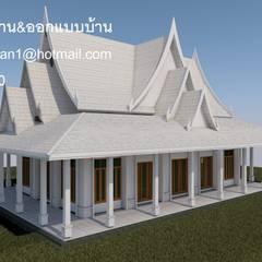 ศาลาวัด :  บ้านและที่อยู่อาศัย โดย รับเขียนแบบบ้าน&ออกแบบบ้าน, โคโลเนียล