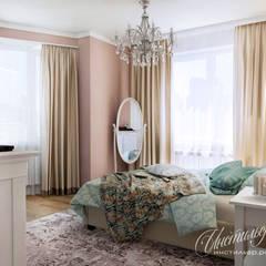 Дизайн проект трехкомнатной квартиры в традиционном стиле: Спальни в . Автор – Студия Инстильер | Studio Instilier,