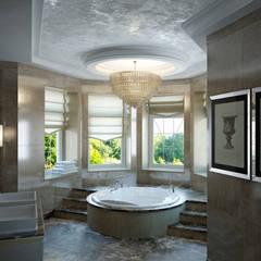 «Дом солнца»: Ванные комнаты в . Автор – Архитектурное бюро 'Дом-А'