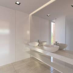 Vista da Casa de Banho do Quarto: Casas de banho  por Catarina Semião