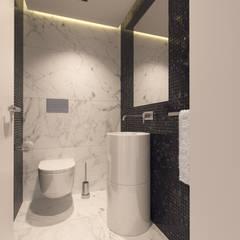 Vista da Casa de Banho Social: Casas de banho  por Catarina Semião