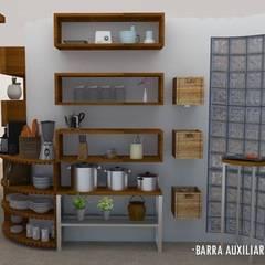 REVITALIZACIÓN DE COCINA : Cocinas de estilo ecléctico por Urbe. Taller de Arquitectura y Construcción