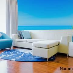 Sala Playera : Salas de estilo mediterráneo por Naromi  Design