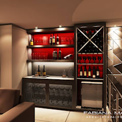 Wine cellar by Fabiana Mazzotti Arquitetura e Interiores,