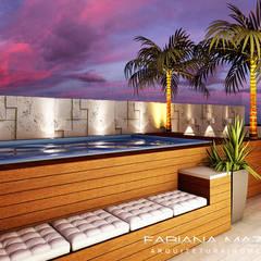 modern Pool by Fabiana Mazzotti Arquitetura e Interiores
