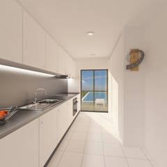 Remodelação de Interiores - Alcobaça: Cozinhas  por Pedro Palma Arquiteto
