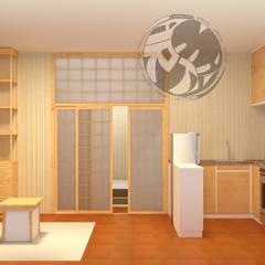 ออกแบบ 3d 😇 ห้อง condo ให้ลูกค้า😇 style Oriental 😍:  ห้องครัว by mayartstyle